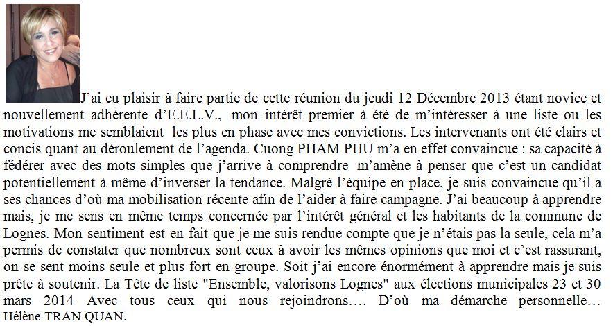 Hélène TRAN QUAN - soutien
